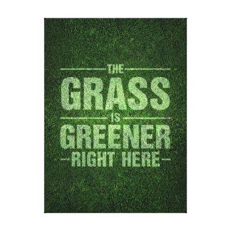 Gräs är mer grön canvastryck
