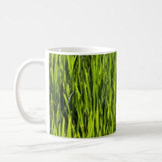 Gräsblad Vit Mugg
