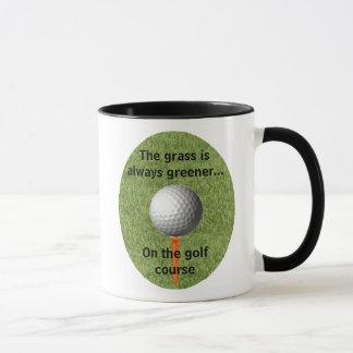 Gräset är alltid mer grön… golf - mugg