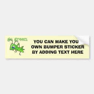 Gräshoppan går gröna T-tröja och gåvor Bildekal
