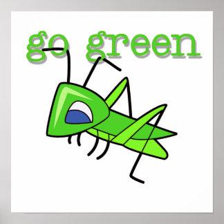 Gräshoppan går gröna T-tröja och gåvor Poster