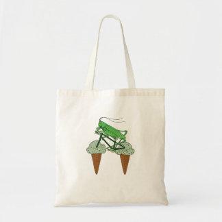 Gräshopparidningcykel med gräshoppaglass tygkasse