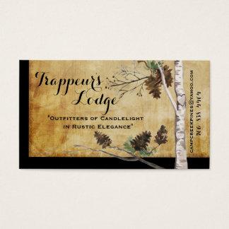 Gräskottar och träd texturerade Lookvisitkortar Visitkort