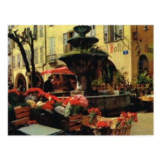 Grasse marknadsför, Cote d'Azur Vykort
