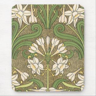 Grassets art nouveaupåsklilja - Mousepad Musmatta