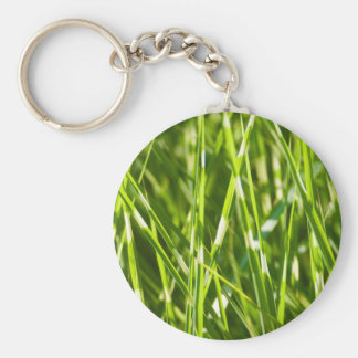 Grässtrån Rund Nyckelring