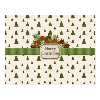 Grästräd med god julbandet vykort