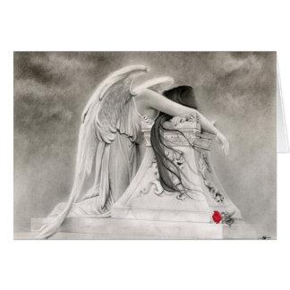 Gråta ängelkortet hälsningskort