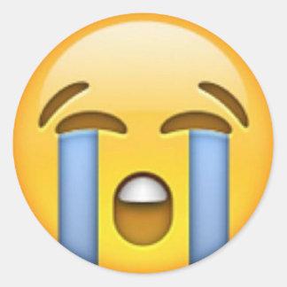 Gråta den Emoji klistermärken