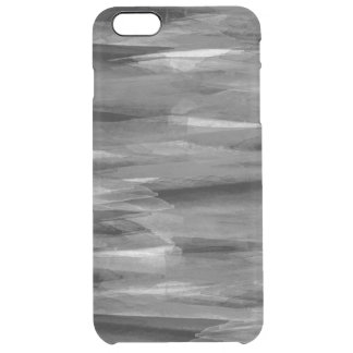Gråtonabstrakt befjädrar iphone case clear iPhone 6 plus skal