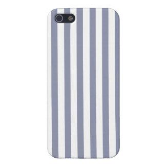 Grått-Blått lodrätrandar; Randigt iPhone 5 Skydd