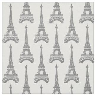 Grått Eiffel tornmönster Tyg
