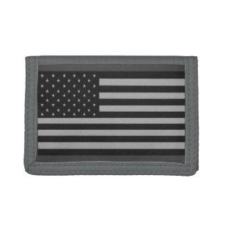Grått för amerikanska flagganCamo plånbok