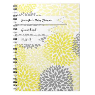 Grått för gult för bok för babymöhippagäst anteckningsbok
