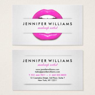 Grått för läppar för coola för Makeupkonstnär Visitkort