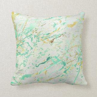 Grått för lyx för marmor för abstrakt AquaTiffany Kudde