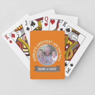 Grått för orange för foto för spel kort