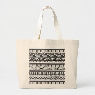 Grått geometriskt abstrakt Aztec stam- Jumbo Tygkasse