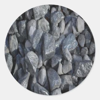 Grått-Grå färg stenar vid Khoncepts Runt Klistermärke