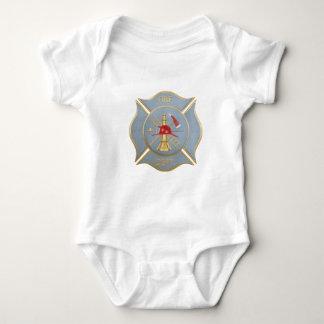 Grått maltese firefightingsymbol tröjor