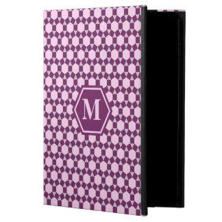 Grått och rosa STH-iPadfodral för mörka lilor Powis iPad Air 2 Skal