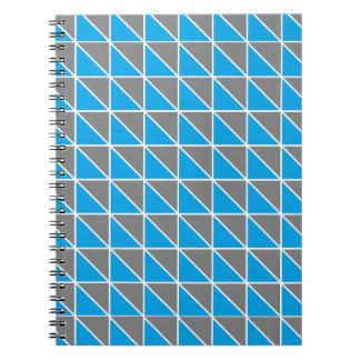 Grått och turkostrianglar anteckningsbok
