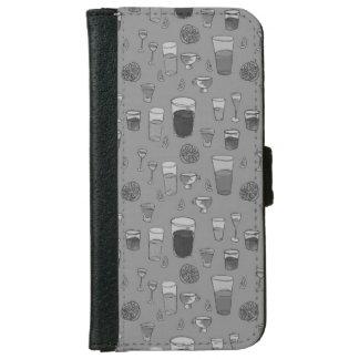 Grått plånbokfodral för blandade drinkar plånboksfodral för iPhone 6/6s