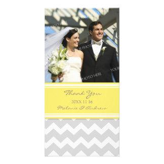 Grått tack för citron som gifta sig fotokort