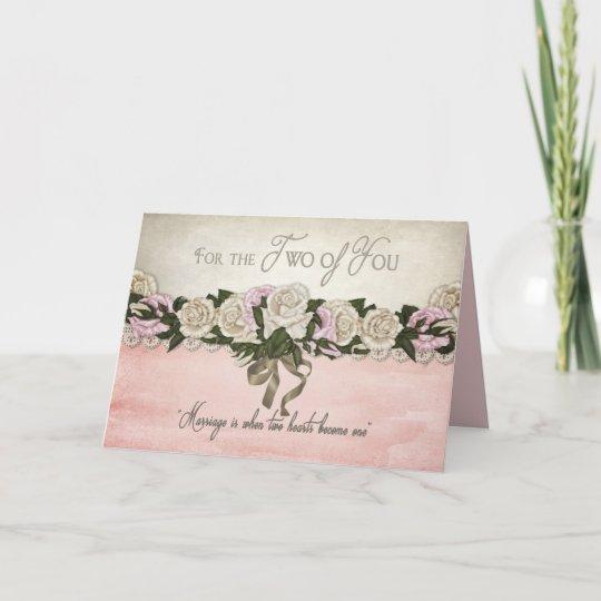 grattis giftermål Grattis   bröllop/giftermål   vintage/rosor kort | Zazzle.se grattis giftermål