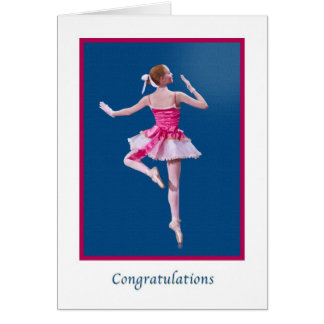 Grattis danshögläsning, Ballerina Hälsningskort