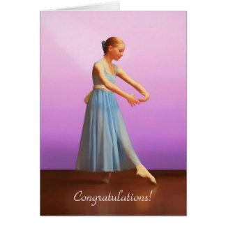 Grattis danshögläsning, Ballerina i blått Hälsningskort