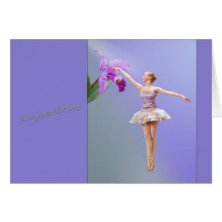 Grattis danshögläsning, Ballerina, Orchid Hälsningskort