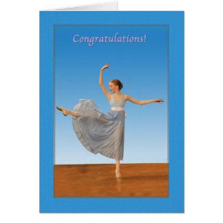 Grattis danshögläsning hälsningskort