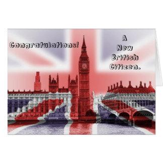 Grattis! En ny brittisk medborgare Hälsningskort