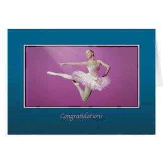 Grattis högläsning som hoppar ballerinaen hälsningskort