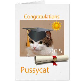 Grattis kisse hälsningskort
