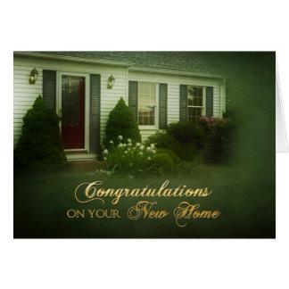 Grattis - nytt hem - hälsningskort