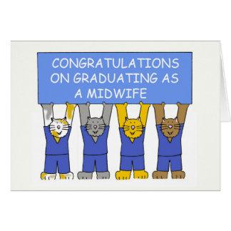 Grattis på att avlägga examen som en midwife. hälsningskort