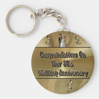 Grattis på din 50th bröllopsdag nyckel ring