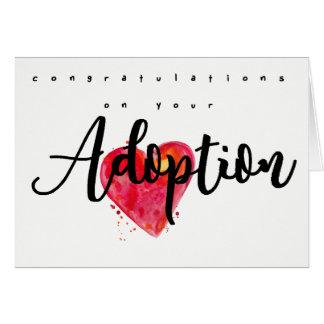 Grattis på din adoption hälsningskort