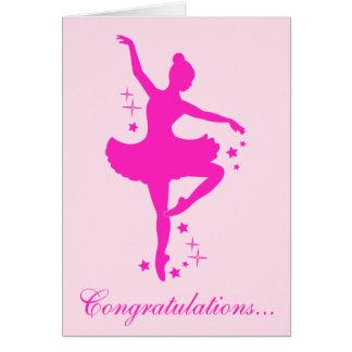 Grattis på din danshögläsning hälsningskort