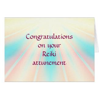 Grattis på din Reiki attunement Hälsningskort