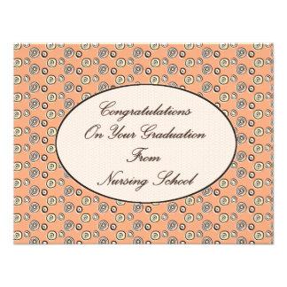 Grattis på din studenten från att vårda Sc Kort För Inbjudningar