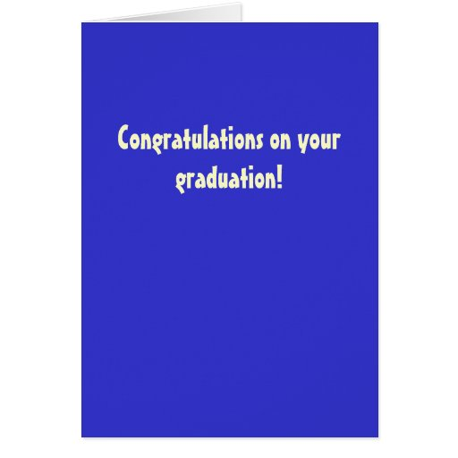 Grattis på din studenten! hälsnings kort