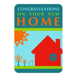 grattis på ditt nya hem (crayolaen formar), 8,9 x 12,7 cm inbjudningskort