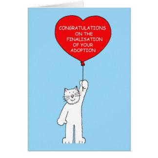 Grattis på finalisation av din adoption. hälsningskort