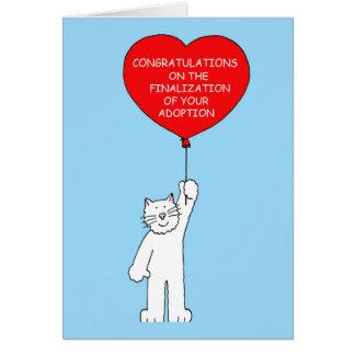 Grattis på finalization av din adoption. hälsningskort