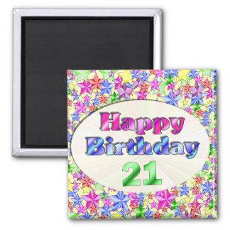 Grattis på födelsedagen 21 magnet