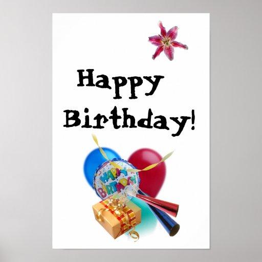 Grattis på födelsedagen! print