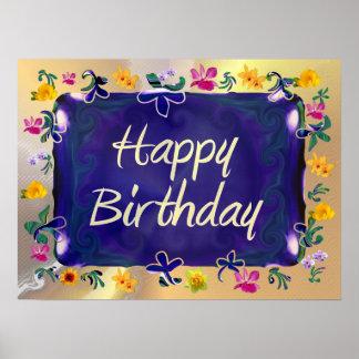 Grattis på födelsedagen affisch